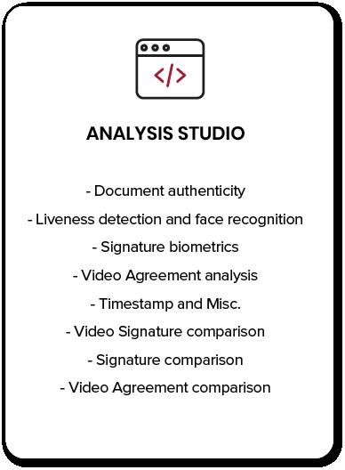 Analysis studio Biometric Agreement